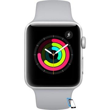 Apple Watch Series 3 Sport 42mm Aluminium Plastic Sport Band Fog Silber