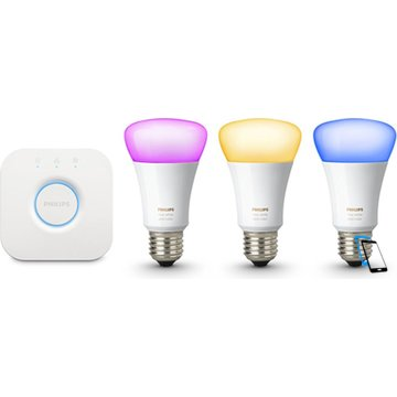 Philips Hue 10W A19 E27 3 set EU with switch Weiß