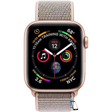 Apple Watch Series 4 Sport 40mm (GPS only) Aluminium Gold Sport Loop Band Pink