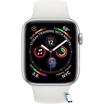 Apple Watch Series 4 Sport 44mm (GPS only) Aluminium Silver Sport Band Weiß