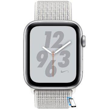 Apple Watch Series 4 Sport 40mm (GPS only) Nike Plus Aluminium Silver Sport Loop Band Weiß