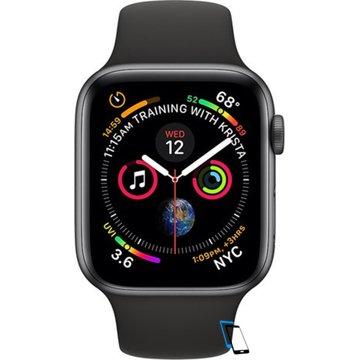Apple Watch Series 4 Sport 44mm (GPS only) Aluminium Grey Sport Band Schwarz