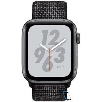 Apple Watch Series 4 Sport 44mm (GPS only) Nike Plus Aluminium Grey Sport Loop Band Schwarz