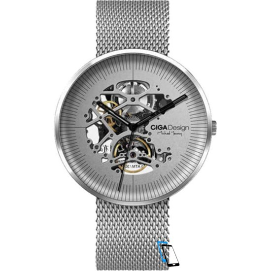 Xiaomi MI CIGA Design Mechanical Watch MY Series Silber